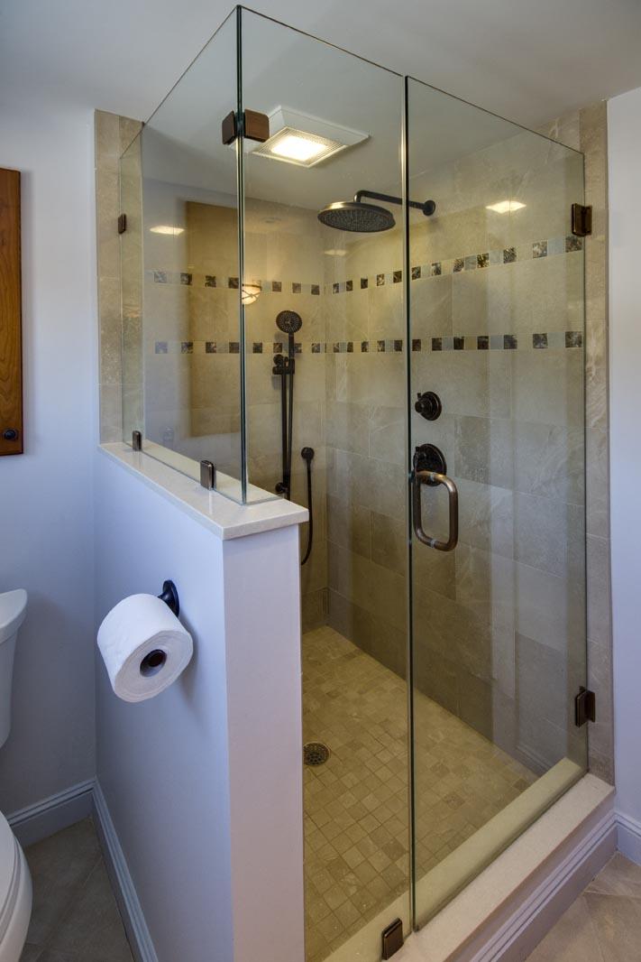 Master bath custom shower