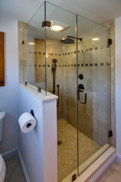 Master bath custom shower